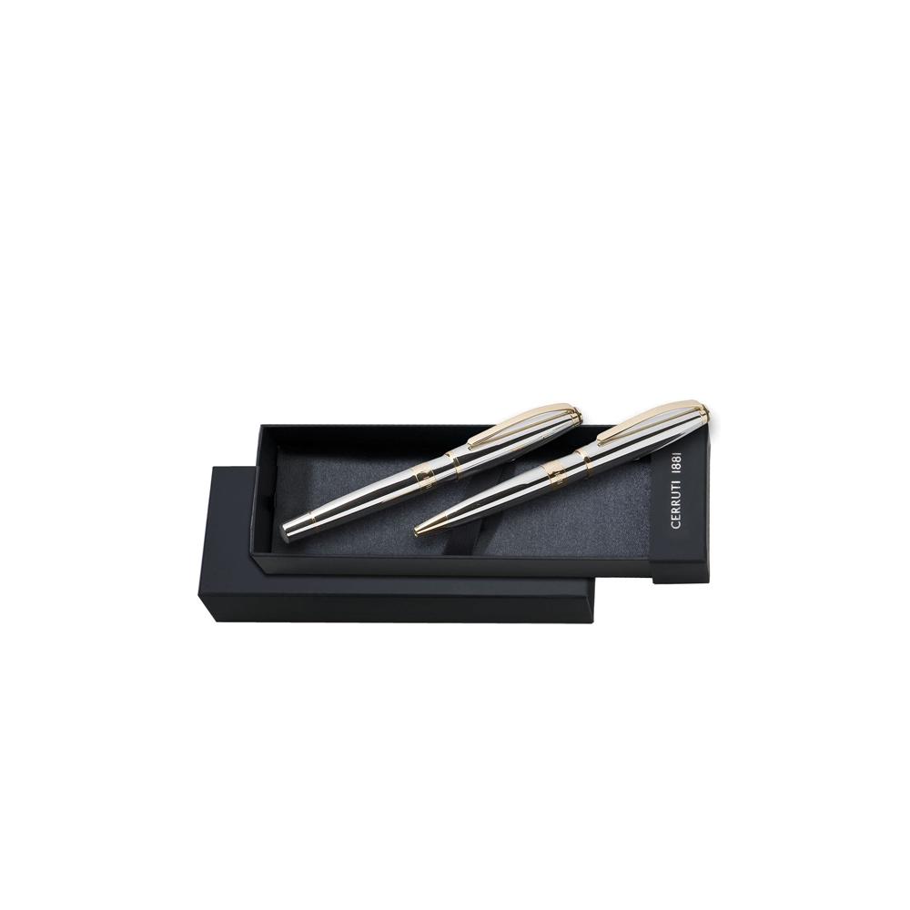 Conjunto de caneta tinteiro e esferográfica