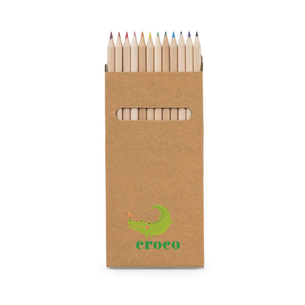 Caixa de cartão com 12 lápis de cor CROCO-51746
