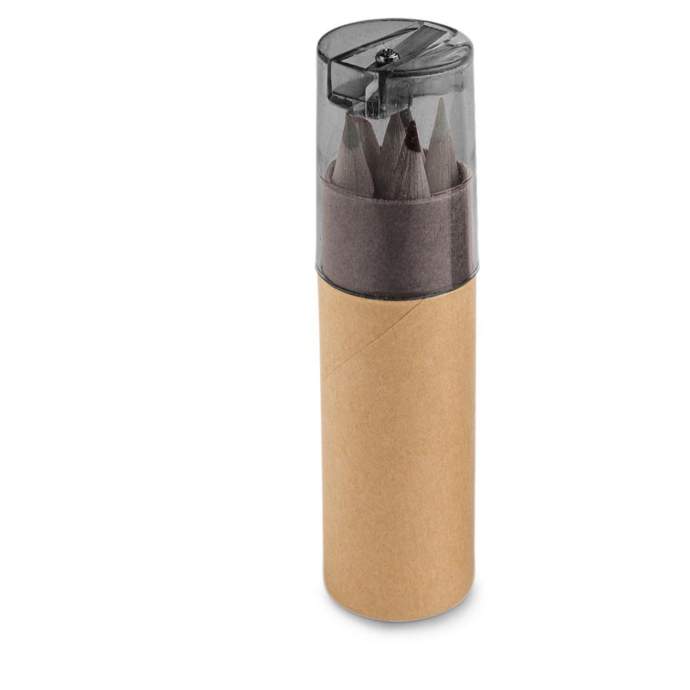 Caixa de cartão com 6 mini lápis de cor ROLS-51751