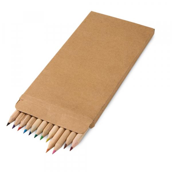 Caixa de cartão com 12 lápis de cor-91746