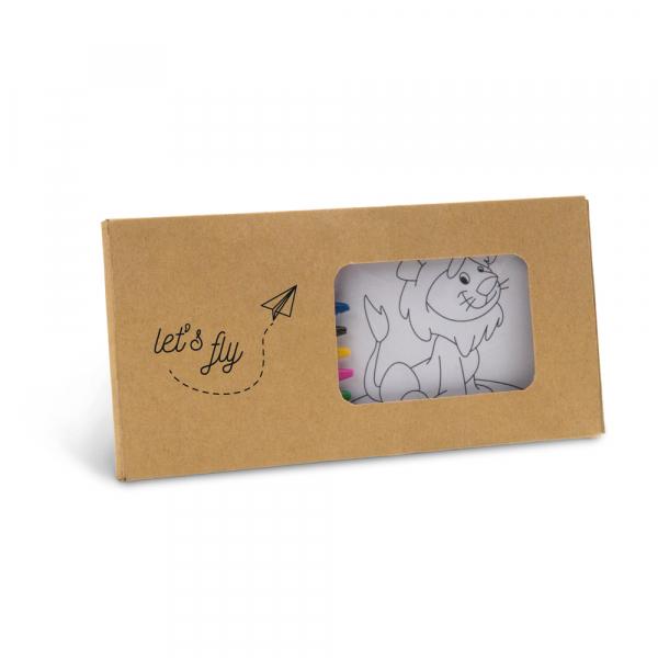 Kit para pintar em caixa de cartão-91755