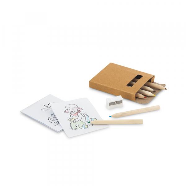 Kit para pintar em caixa de cartão-91758