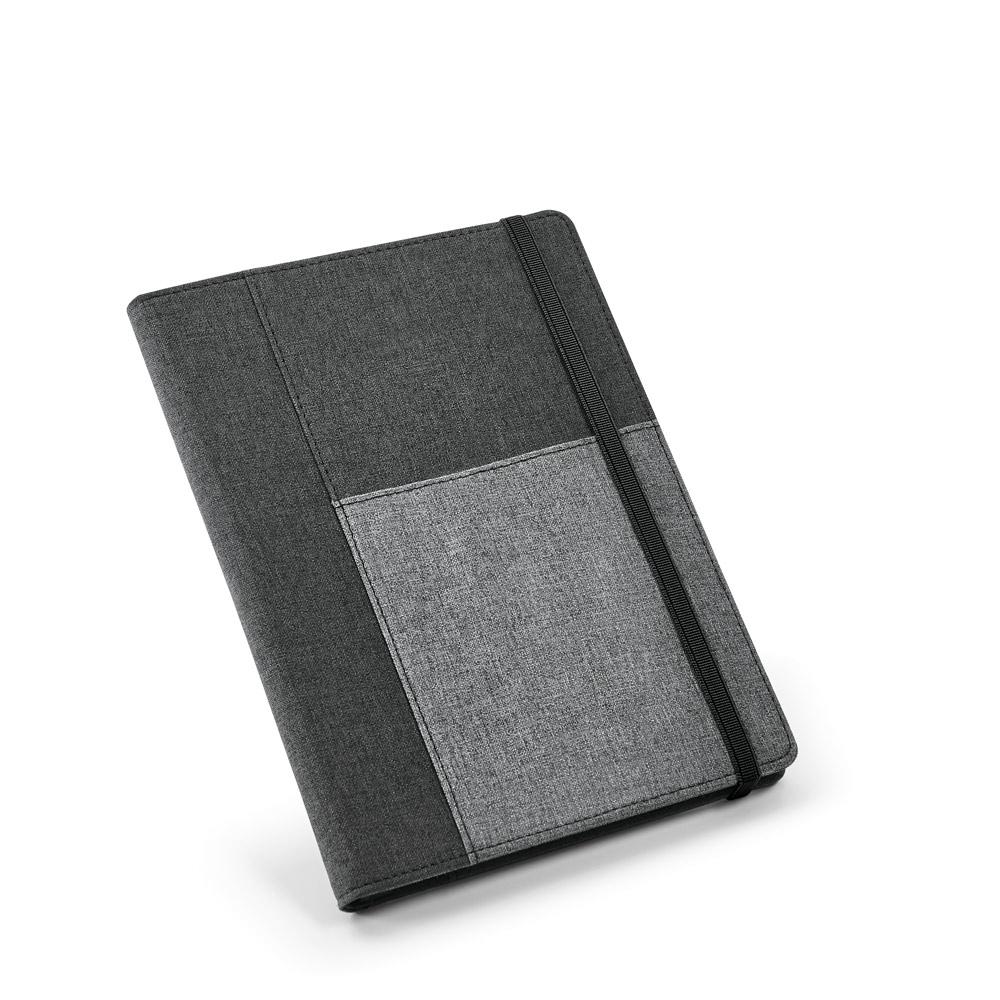 Capa com caderno