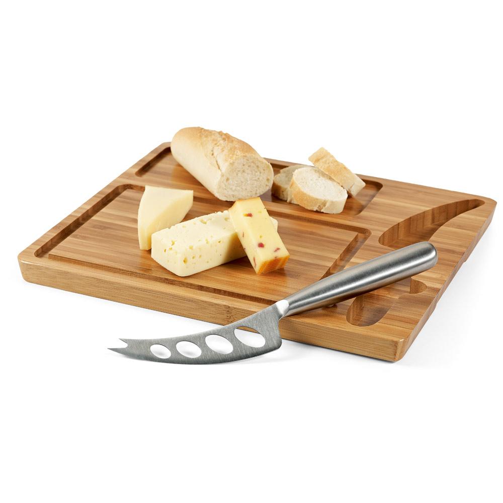 Tábua de queijos em bambu com faca MALVIA