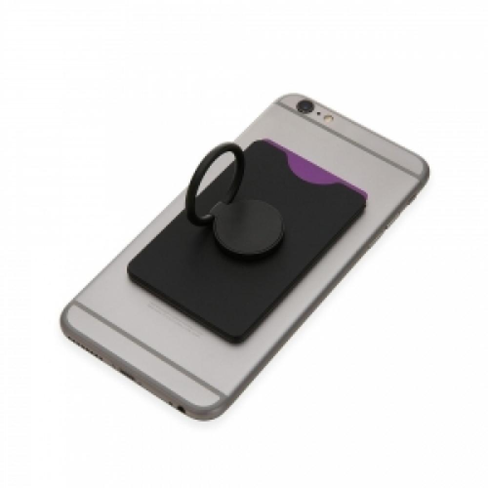 Adesivo Porta Cartão para Celular com Anel de Suporte-14598