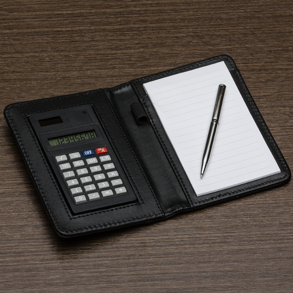 Bloco de Anotações com Calculadora e Caneta-11948