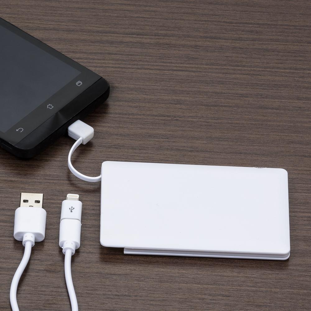 Power Bank Plástico Formato Cartão com indicador Led-12984