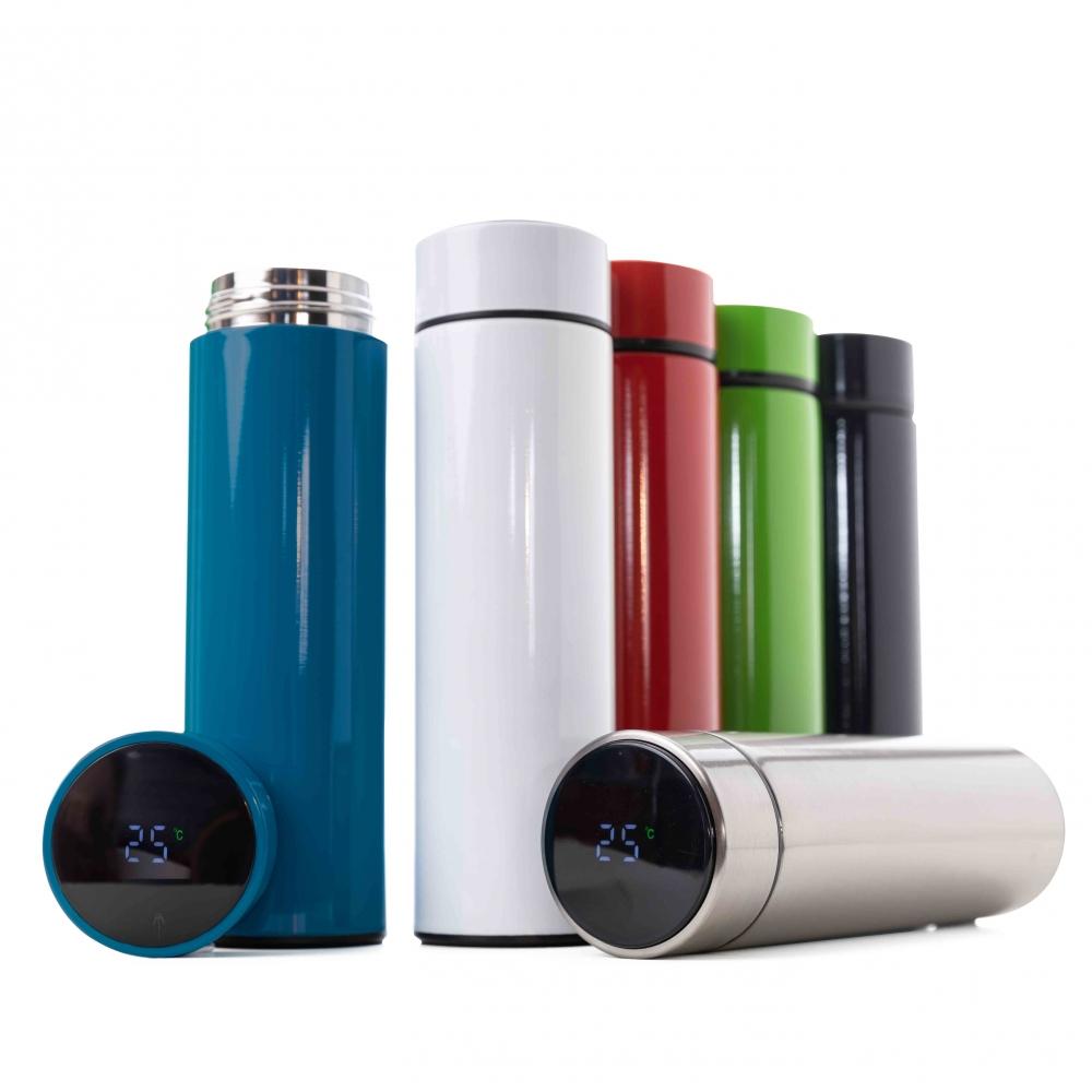 Garrafa Inox 450 ml com Display LED-14644