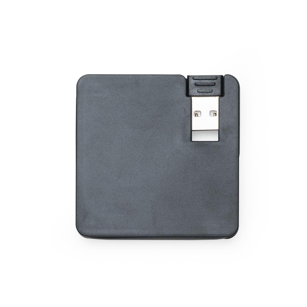 Hub Plástico Quadrado com 4 Entradas USB-P@13723