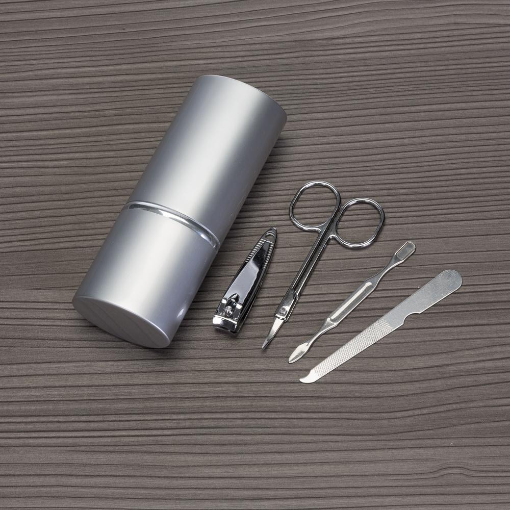 Kit Manicure 4 Peças em estojo de alumínio-04657