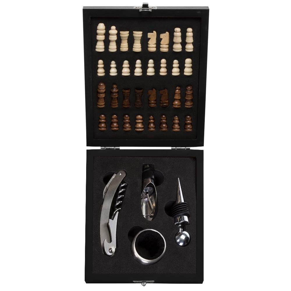Kit Vinho Xadrez 4 peças-12046