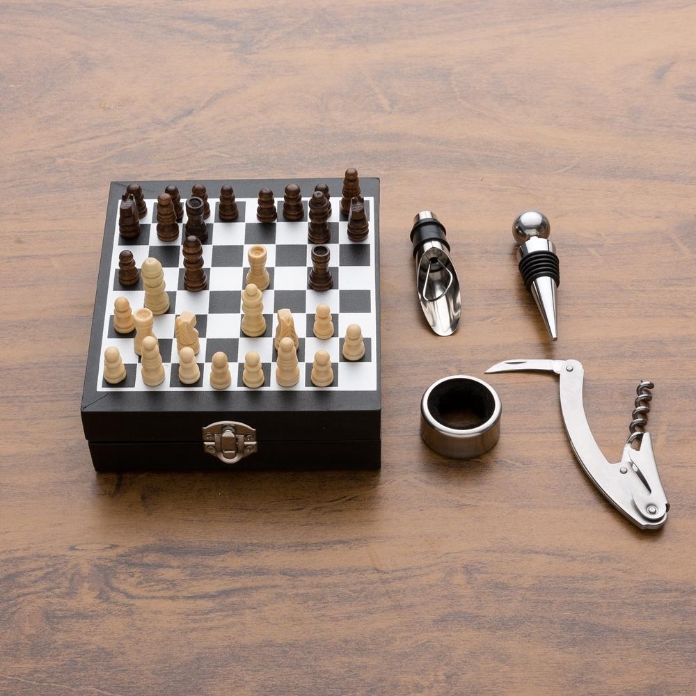 Kit Vinho Xadrez 4 peças-04450