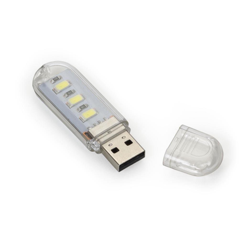 Luminária Plástica USB com Led-13236
