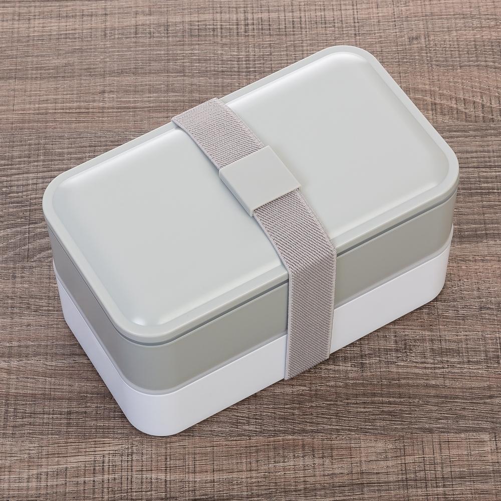 Marmita Plástica de 2 Compartilhamentos e Talheres-13564