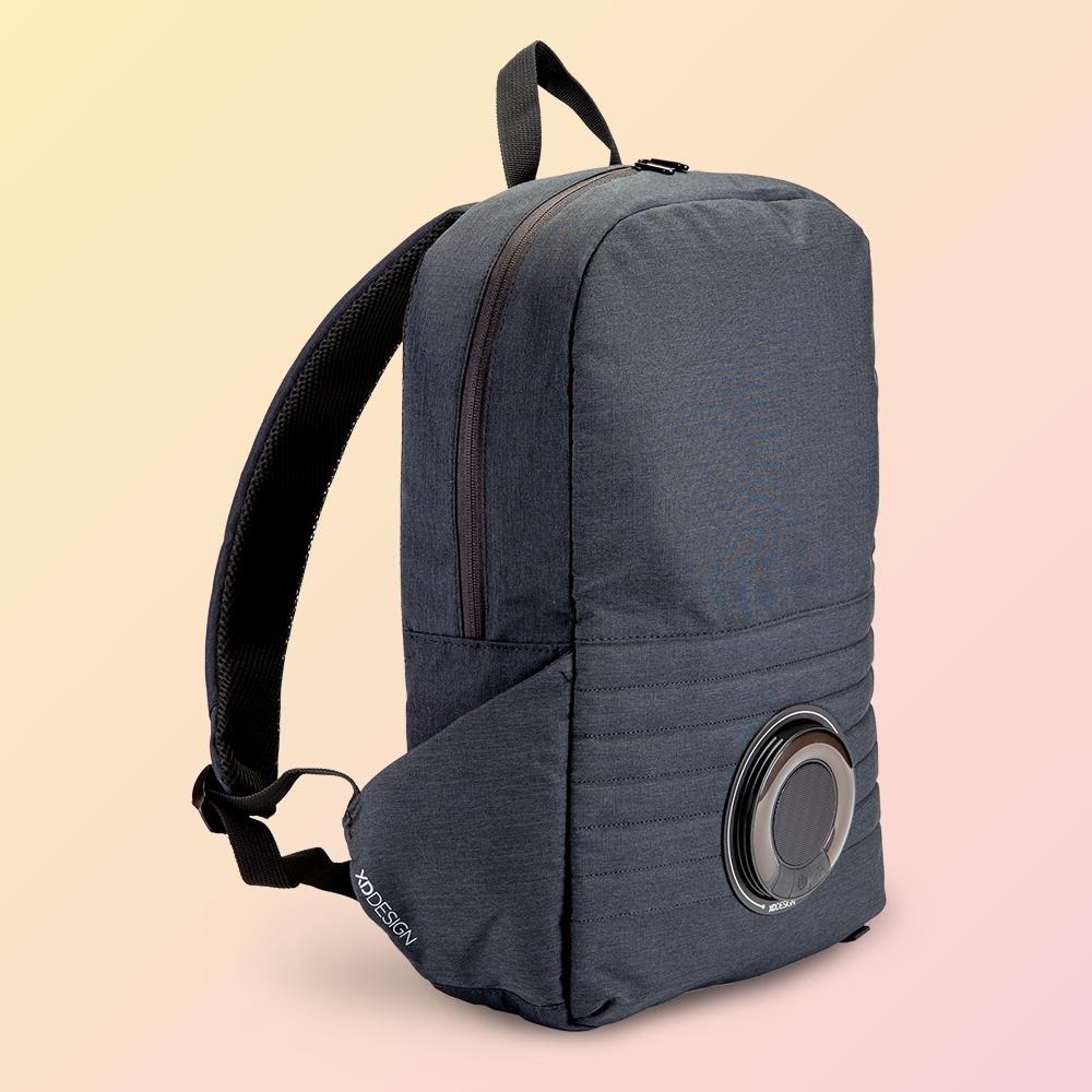 Mochila para notebook com caixa de som