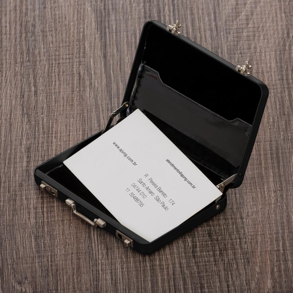 Porta Cartão Maleta Alumínio-P@13160