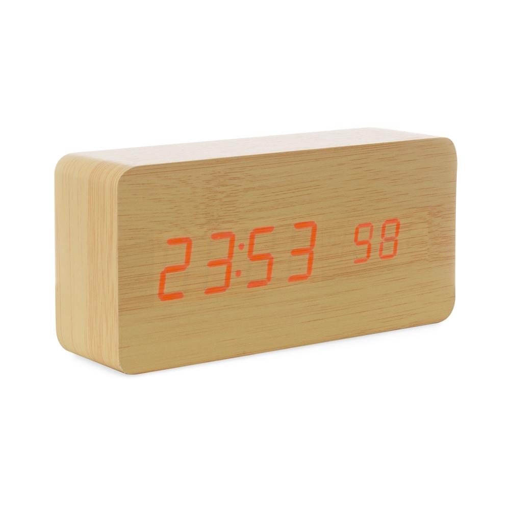 Relógio de Madeira com Display LED-18563