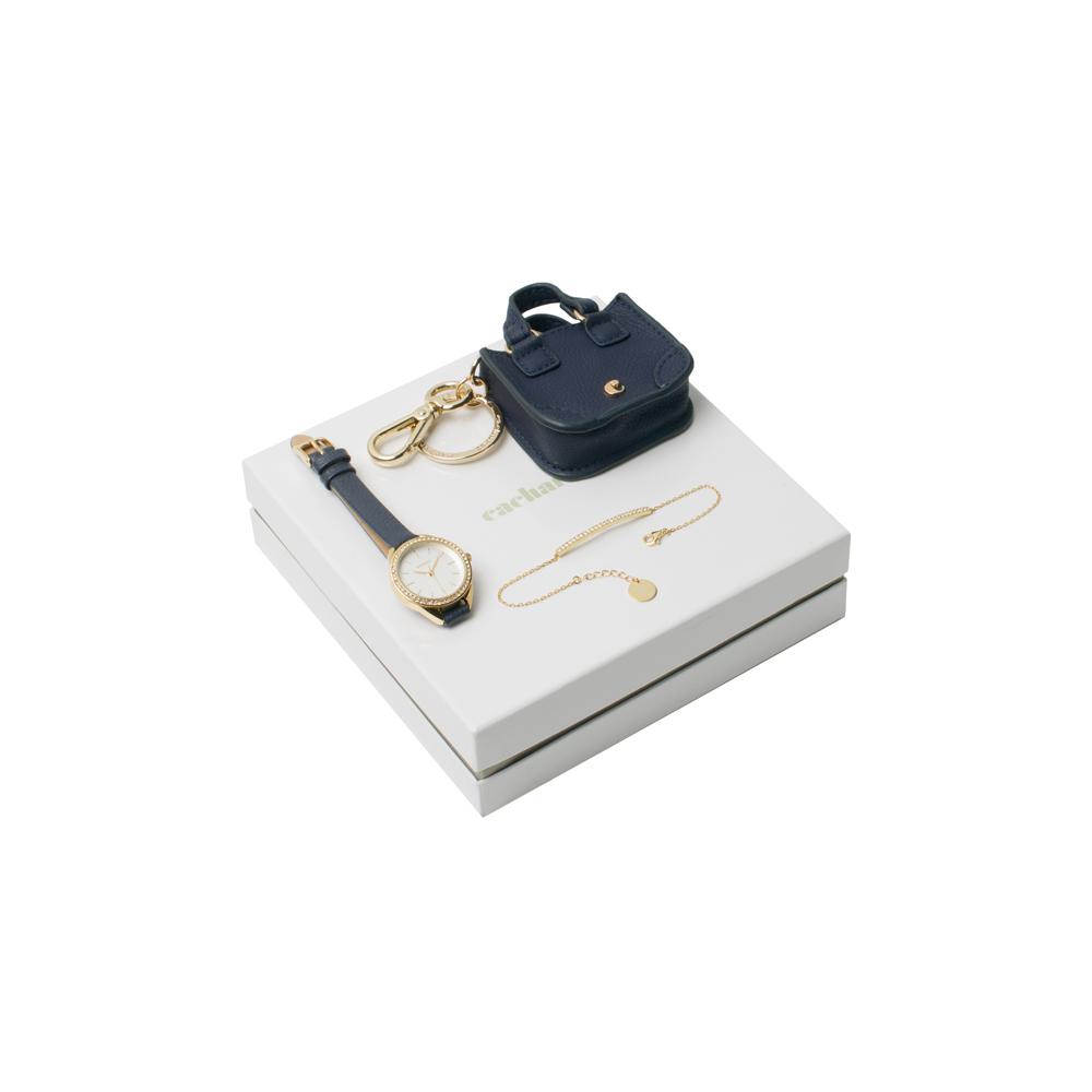 Kit pulseira, chaveiro e relógio-41055
