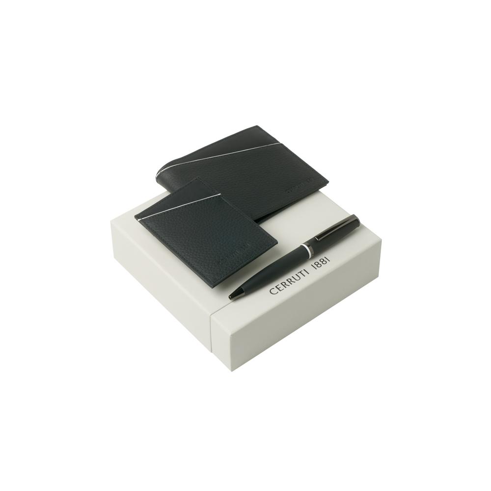 Kit carteira, porta cartões e esferográfica