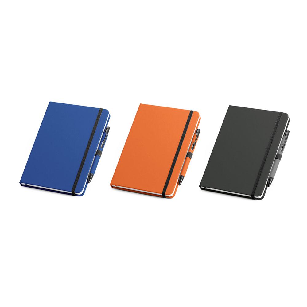 Kit de caderno e esferográfica