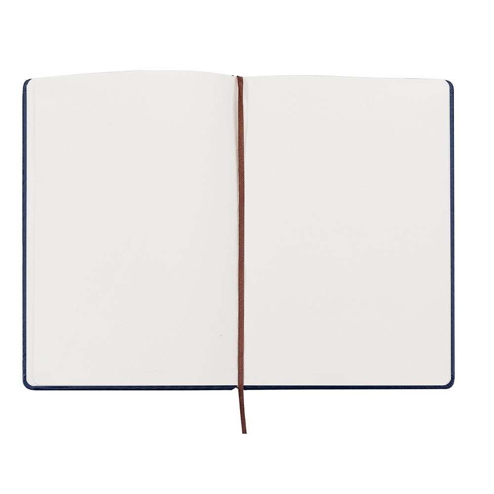 Caderneta tipo Moleskine de Couro Sintético
