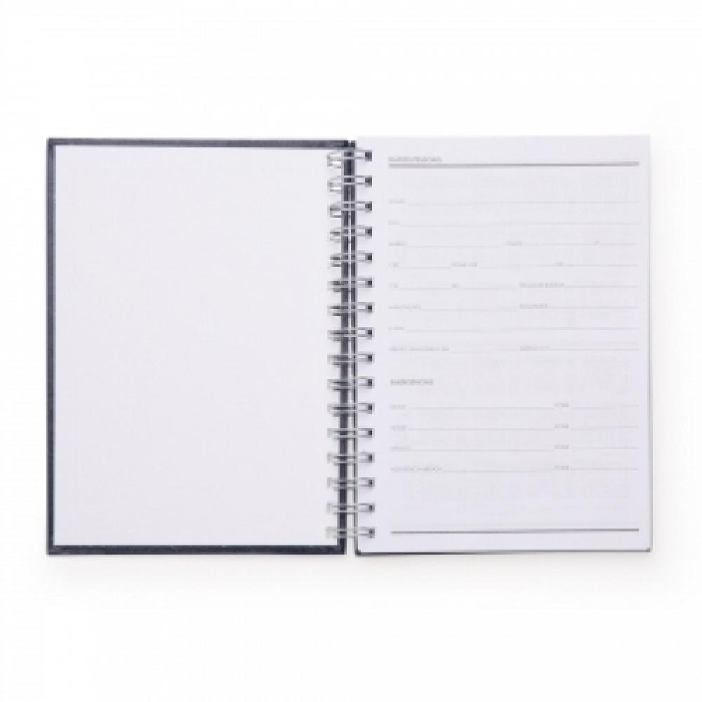 Caderno Pequeno de Couro Sintético