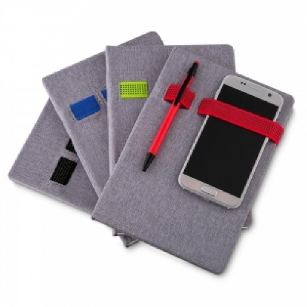 Caderno Porta Celular e Caneta