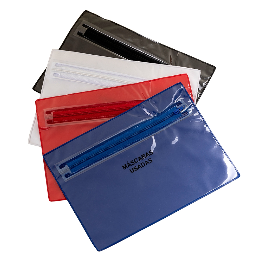 Envelope Plástico Duplo para Máscaras