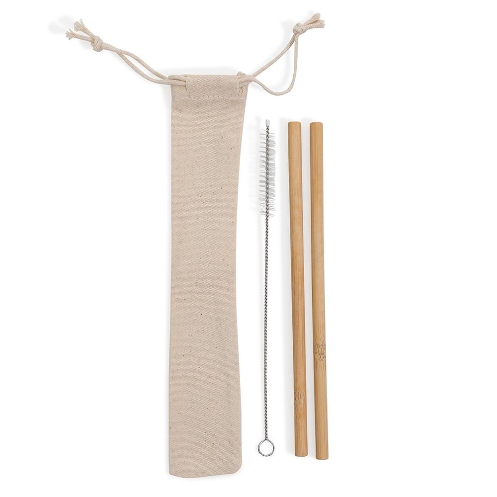 Kit Canudos de Bambu (2 pçs)